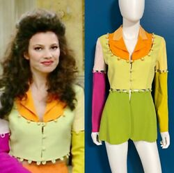 Moschino Cheap And Chic Vintage 1995 Colorblock Jacket Fran The Nanny Sz 8