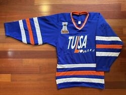 Tulsa Oilers 1994 Hockey Replica Jersey Chl By Duralux Made In Usa - Adult Small