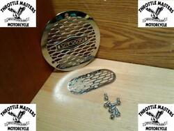Chrome Vented Derby 3-hole Cover And Inspection Cover For Big Twin 1970-1998