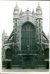 The Handsome West Front Of Bath Abbey. - Vintage Photograph 1985750