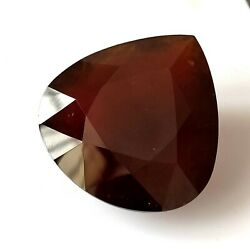 387.00 Cts Giant Natural Faceted Hessonite Garnet 47x50 Mm Heart Loose Gemstone