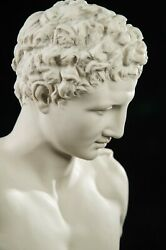 Large Marble Bust Of Hermes After Praxiteles Classical Sculpture. Art Gift.