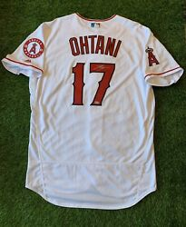 """Shohei Ohtani Los Angeles Angels Signed Auto Jersey 2018 Home """"mlb Auth"""" Size 48"""