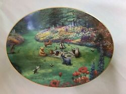 Peter Ellenshaw, Pooh Seasons 'summer Grand Afternoon' Oval Collectors Plate Coa