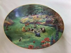 Peter Ellenshaw Pooh Seasons And039summer Grand Afternoonand039 Oval Collectors Plate Coa