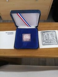 1984 Square Quarter. Extremely Rare Half Ounce Silver Edition Mintage 602.