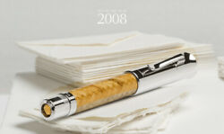 Graf Von Faber Castell Pen Of The Year 2008 Indian Satin Wood Fountain Pen New
