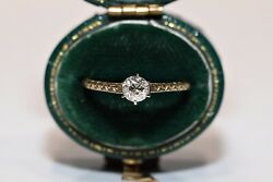 Victorian Style New Made Our Design 14k Gold Natural Diamond Solitaire Ring