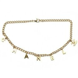 Stored Items Logo Charms Coco Mark Chain Necklace 02a Gold P0832