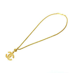 Coco Mark Long Chain Necklace 95a Gold P2243
