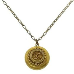 Necklace Accessory Gold Coco Mark Secondhand T14265