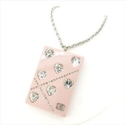Necklace Accessory Pink Rhinestone Secondhand T7673