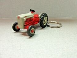 Gray And Red Ford Tractor Custom Key Chain 1/64 Scale