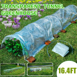 5m Long Tunnel Garden Greenhouse Grow Plants Transparent Pe Cold Protector New