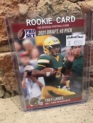2021 Trey Lance Leaf Pro Set Sf 3 Pick At The Top Draft Day Rookie Variation Rc