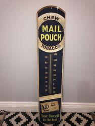 Mail Pouch Tobacco Thermometer Vintage Signandnbsp