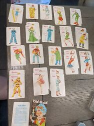 Vintage 1950s Old Maid Cards Fairchild Profession Movie Star Water Skier...