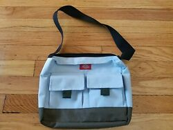 90#x27;s Dickies Small Bag Purse Light Blue and White $10.00