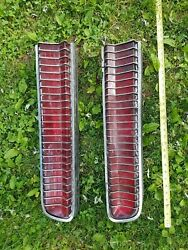 Vintage Ford Rear Lights 1970and039s Heavy Chrome And Red Plastic Model C9wb-13440
