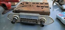 Vintage Oem Chevrolet Delco 1960s Am Radio W/ Chrome Face Plate