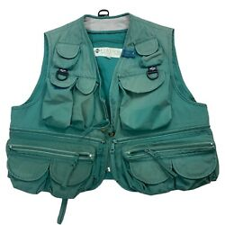 Vintage Columbia Sportswear Distressed Faded Large Fly Fishing Utility Vest