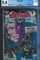 Cgc 9.4 Batman 234 1st Appearance Silver Age Two-face Ow To White Pgs 1971