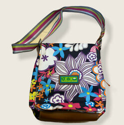 Lilly Bloom Muli Colored Flowered Crossbody Summer Bag $18.00