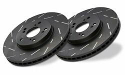 Ebc Usr7173 Ultimax Slotted Rotors For 1965-1967 Ford Mustang 289cid