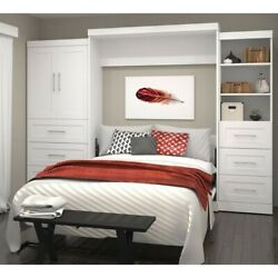 Atlin Designs 125 Queen Wall Bed With Storage In White