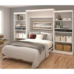 Atlin Designs 136 Queen Wall Bed With Storage In White