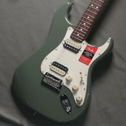 Used Fender American Professional Stratocaster Hh Antique Olive Guitar Vpf13