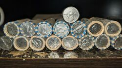 Old Canadian Pure Nickel Lot - 640 5 Cent Coins - 1960ish-1981