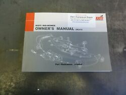 Kioti Sm2410 Mid-mower Ownerand039s Manual  Parts Illustrations Included