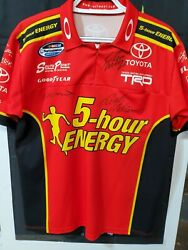 Vtg Rusty/stephen Wallace Autographed Nascar Pit Crew Shirt Race Used 5-hour