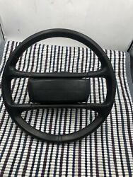 Porsche 944 Steering Wheel Original Leather Wrapped Used 944-347-084-08 05 Pur