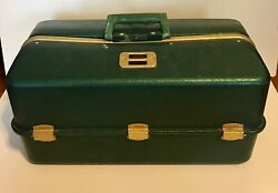 Vintage Umco 1000us Tackle Box 7 Shelves Filled With Archery Supplies Green Alum