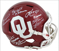 Ou Sooners Full-size Speed Helmet Signed By Murray,mayfield,bradford,white,owens