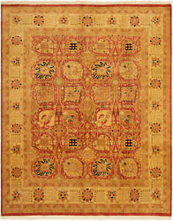 Hand-knotted Carpet 8and0392 X 9and03910 Traditional Vintage Wool Rug