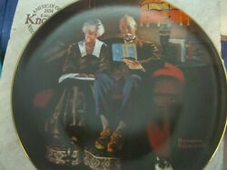 Collectible Norman Rockwell plate 19996J quot;Evening#x27;s Easequot; with box amp; COA $12.00