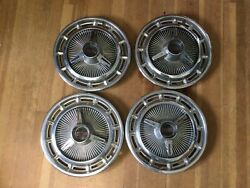 """Set Of Four 1968-69 Camaro And 1965 Chevy 11. S. S Hubcaps. 3018. 14"""""""