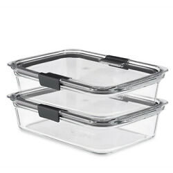 Rubbermaid Brilliance Glass Food Storage Containers, 8-cup Food Containers