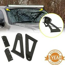 For 84-01 Jeep Cherokee Xj Windshield Mount Bracket Fit 50 Curved Led Light Bar
