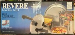 Vintage Revere Ware Cookware Set Stainless Steel New In Box Nos Nib Sealed 80s