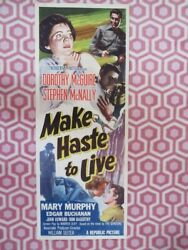 Make Haste To Live Us Insert 14x 36 Poster Dorothy Mcguire 1954