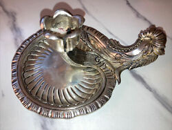Rare Vintage Sterling Silver Tane Mexican Mexico Tulip Flower Chamberstick Heavy