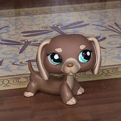 Authentic Littlest Pet Shop Lps 1751 Cocoa Brown Dachshund Puppy Dog