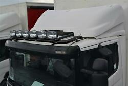 To Fit 2009+ Scania P G R 6 Series Sleeper Black Roof Bar+led+led Spots+beacon