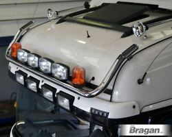 To Fit 2009+ Scania P G R 6 Sleeper Cab Roof Bar+jumbo Led Spots+amber Beacons