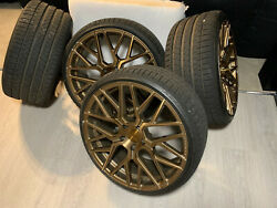 Rohana 20 Wheels In Bronze Including Tyres For Bmw 3 Series 2009