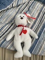 Rare Valentino Beanie Baby Brown Nose With Tag Errors